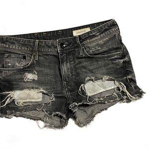 H&M Distressed Cut Off Denim Shorts (8)